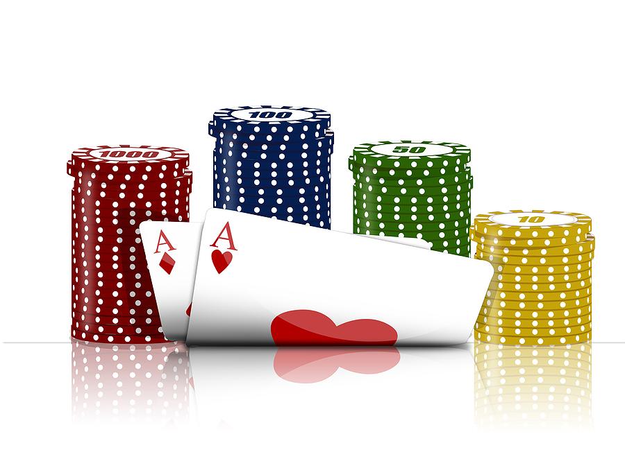 kort och marker Poker på casino